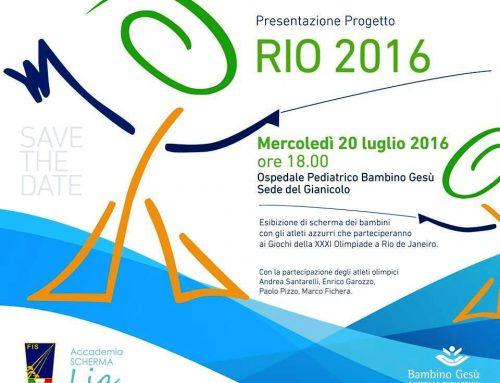 Rio 2016: Accademia Scherma Lia e Ospedale Pediatrico Bambino Gesù